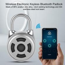 Akıllı Bluetooth asma kilit evrensel Mini kablosuz kilidi elektronik asma kilit Metal anahtarsız soyunma APP kontrolü şifreli kilit candado