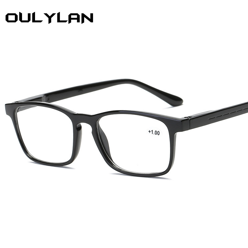 Oulylan  Men Prescription Reading Glasses Women Fashion Simple  Hyperopia Presbyopic Ultralight Eyeglasses For Reader 1.5 2.5