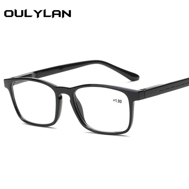 5fa0dd71b9e Oulylan Men Prescription Reading Glasses Women Fashion Simple Hyperopia  Presbyopic Ultralight Eyeglasses for Reader 1.5 2.5