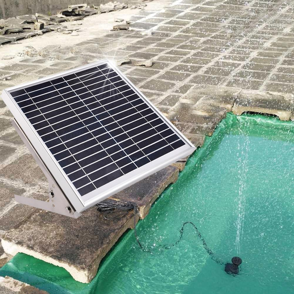 10W Power Storage Remote Control Pond Solar Submersible Water Pump Fountain Stainless Steel Hollow Ball Solar