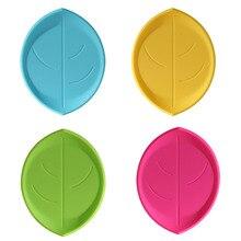 4 шт подстаканники силиконовые креативные в форме листа теплоизоляционные подушечки, подстилки для кухни, столовой, дома, офиса