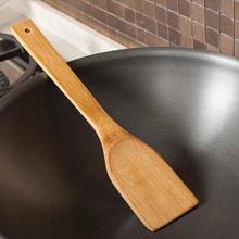 Бамбуковая Лопатка деревянная кухонная шлицевая лопатка ложка для перемешивания держатель кухонная утварь Ужин еда лопатки для вока принадлежности#05