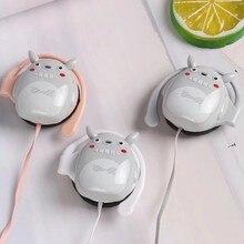 5 Pcs/Parcel Cute Totoro Ear Hook Headphones Stereo Earphone 3.5MM Earbuds For Children Mobile Phone Xiao Mi Huawei MP3 cute cartoon totoro style in ear earphone white black grey