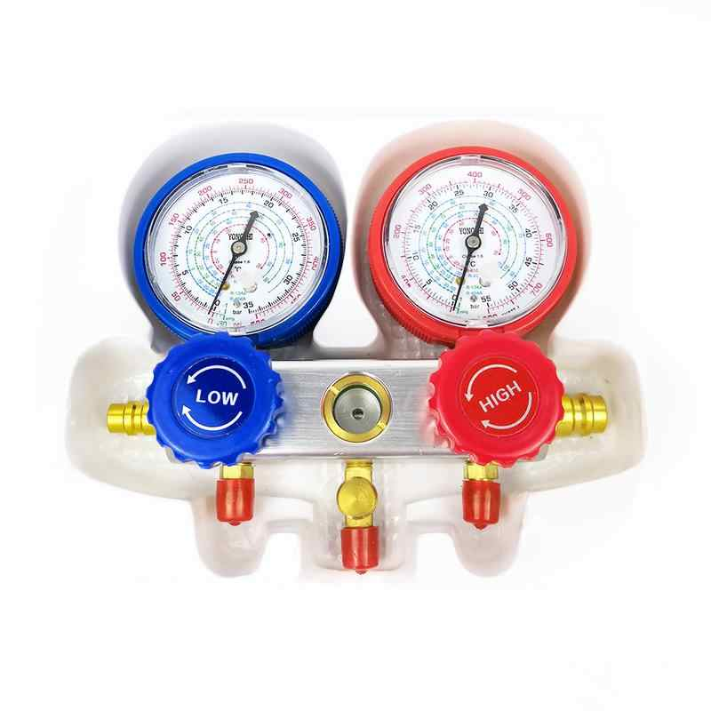 سيارة تكييف الهواء الجدول فلوريد قياس الضغط الكرتون مجموعة ل السيارات المبردات تكييف الهواء التشخيص أداة خاصة