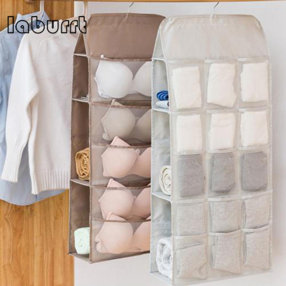 Closet:  Hanging Closet Organizer Hanging Clothing Home Storage Closet Bag For Underwear Bra Socks Sunglasses - Martin's & Co