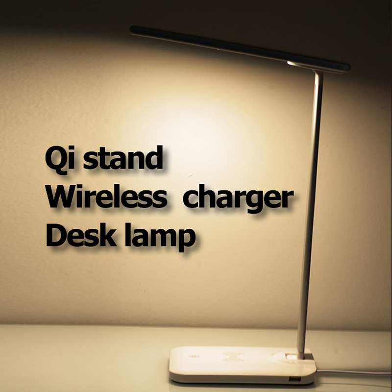 VEEAII Dimmable Rotatable Eye Care LED Wireless Charger Desk Lamp Foldable For Samsung galaxy S8 S9