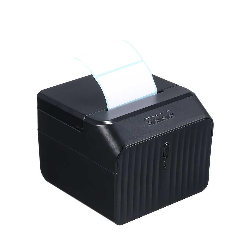 58 мм BT Термальный чековый принтер Qr код штрих-код самоклеящаяся этикетка usb-порт для принтера ясная печать для iOS Android Windows