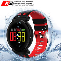 CACGO K2 Bluetooth Smartwatch Waterproof IP68 Heart Rate Blood Pressure Smart Watch with Camera for iOS Android Phone Pk Xiaomi