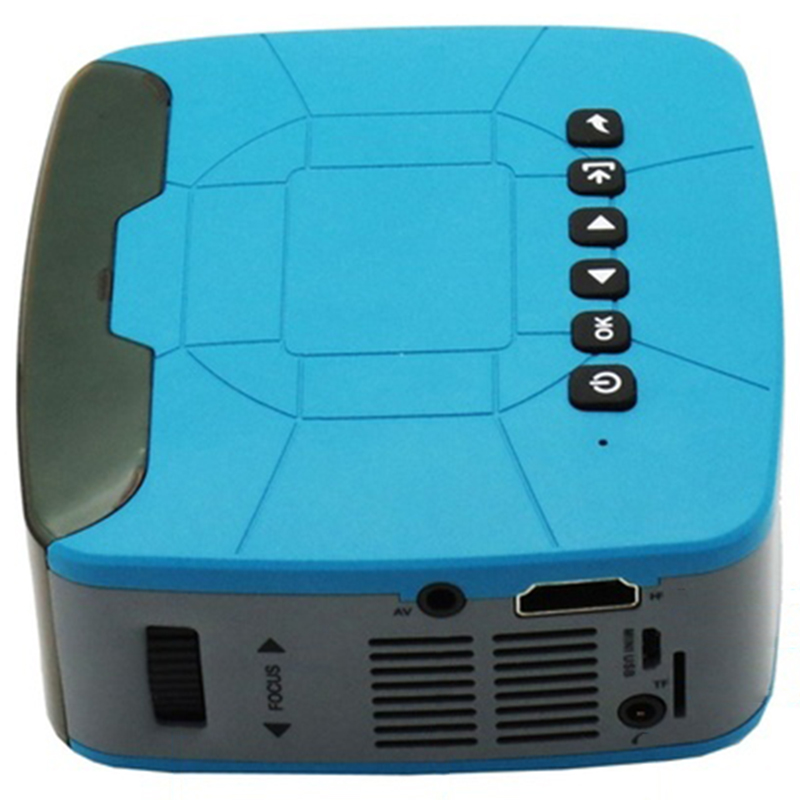 U20 680LM HD Mini Protable Projector Home Outdoors Theater AV USB With Remote Control