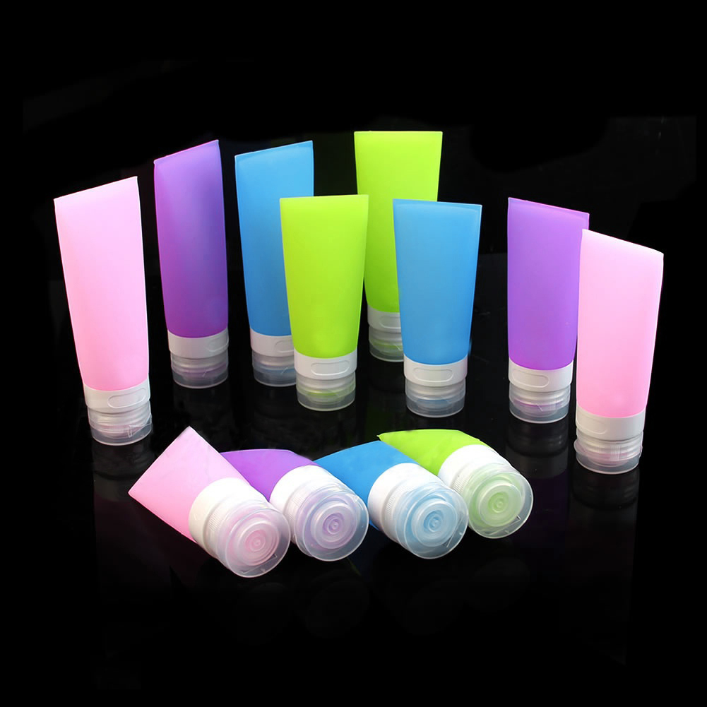 Empty Silicone Travel Bottle Lotion Shampoo Cosmetic Tube Container Portable