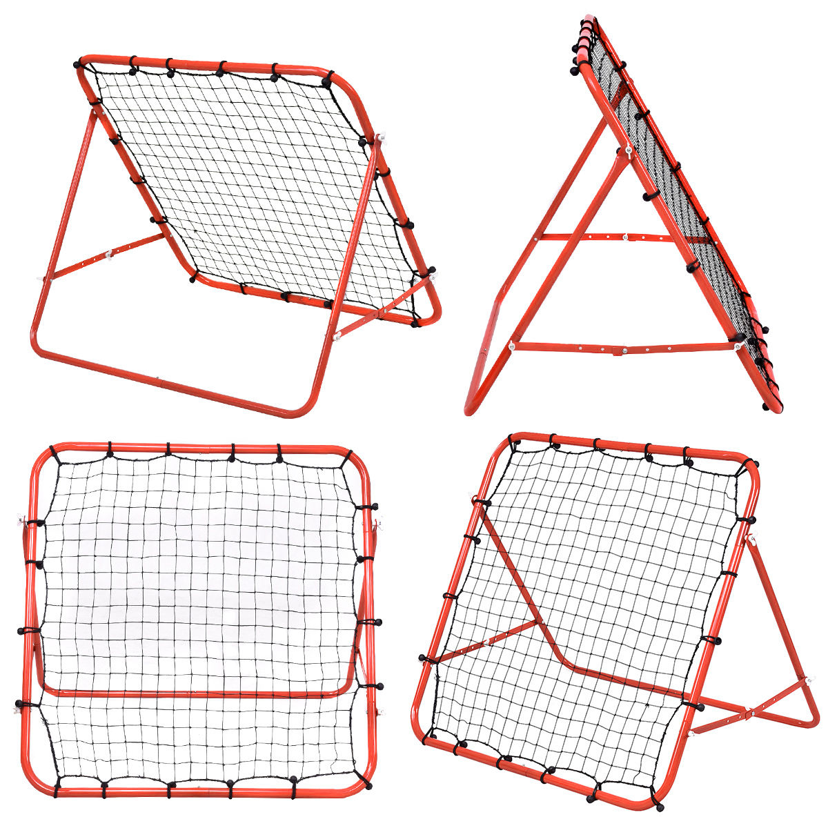 Soccer Football Rebound Target Mesh Net Adjustable Kickback Soccer Target Goal Baseball Soccer Training Aid Tool soccer skills training