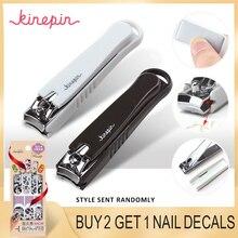 KINEPIN, большая углеродистая сталь, кусачки для ногтей, резак, профессиональный маникюрный триммер, высокое качество, кусачки для ногтей с зажимом, Ловец