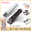 KINEPIN Large Carbon Steel Nail Clipper Cutter Professional Manicure Trimmer High Quality Toe Nail Clipper with Clip Catcher