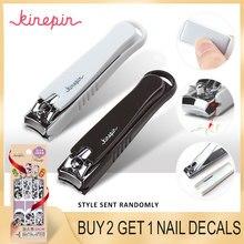 e28db7a5b5 KINEPIN di Grandi Dimensioni In Acciaio Al Carbonio Nail Clipper Cutter  Professionale Manicure Trimmer di Alta