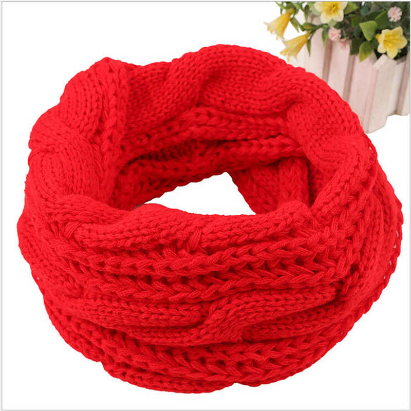 Apparel Accessories Lovely Fashion Winter Scarf Warm Snood Tube Neck Loop Circle Crochet Woolen Yarn Knitted Scarf Single Ring Scarf For Women Men #1128
