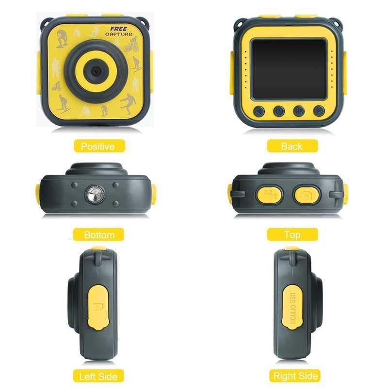Детская водостойкая Цифровая видеокамера HD экшн-камера 720 P спортивная 1,77 дюймов камера с ЖК-экраном видеокамера DV для мальчиков девочек подарок на день рождения