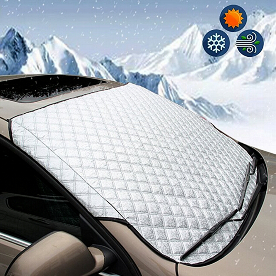 SUV Universal Car Windshield All Weather Snow Cover & Sun Shade Protection Cover Fits Most Of Car Window Mirror Protector(China)