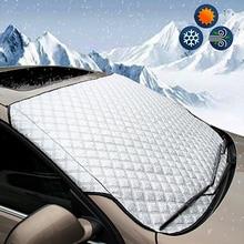 Универсальный автомобильный чехол на лобовое стекло для внедорожника, защита от снега, защита от солнца, подходит для большинства автомобильных зеркал