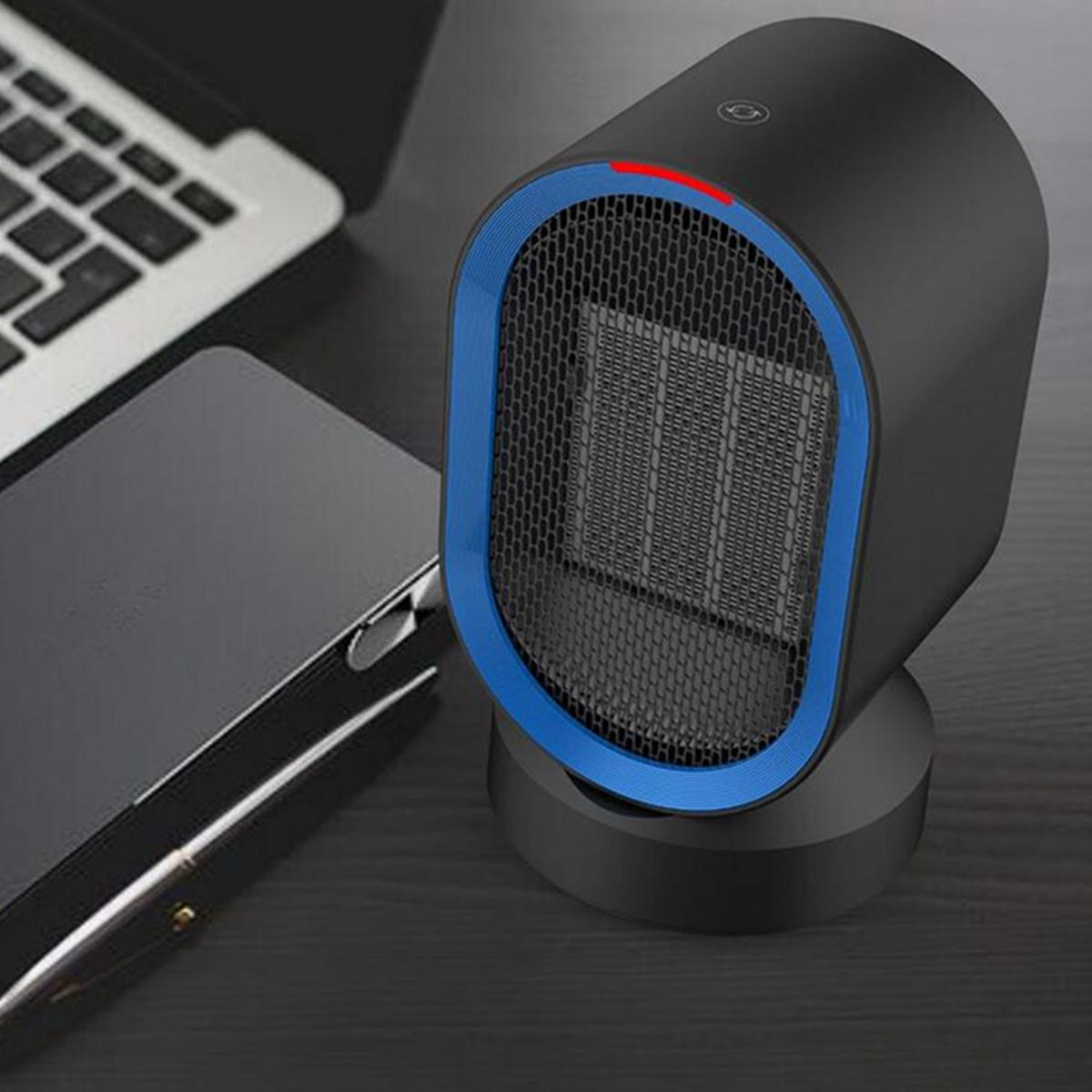 600W Electric Wall Heater Mini Portable Indoor Heating Air Heating Warmer Mini Heaters Silent Office Household Appliances Black
