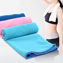 Новое спортивное полотенце из микрофибры 35*85 см, быстроохлаждающее полотенце для тренажерного зала, фитнеса, волшебное быстроохлаждающее полотенце для плавания, прохладное полотенце для йоги
