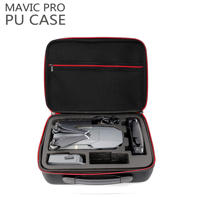 New PU Leather Water Resistant DJI Mavic Pro Portable Bag Carry Case Handbag Box For DJI Mavic Pro Drone Accessories