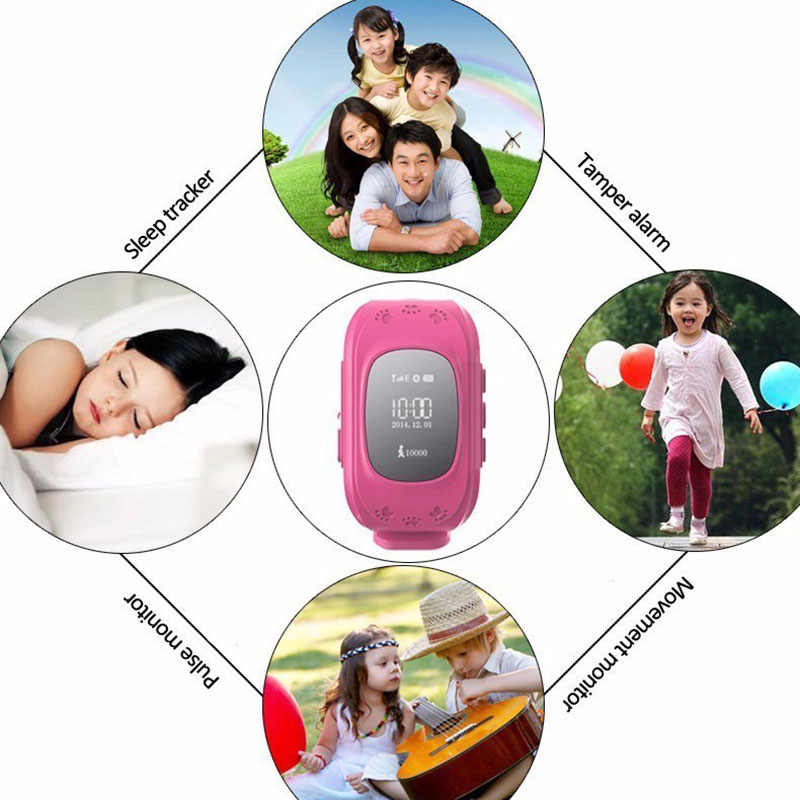 Anti Lost Q50 OLED Child GPS Tracker SOS Smart Watch Monitoring Positioning Phone Kids GPS Baby Smartwatch for IOS Android