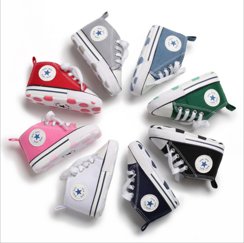 baby tennis New Baby Toddler Boys Girls Crib Shoes Tennis Canvas Shoes Kids Skater Sneakers shoes for girls boys