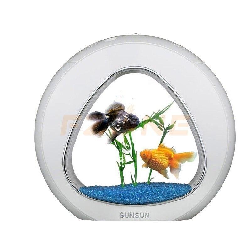 Système de lumière LED de filtre d'intégration de réservoir de poissons d'aquarium d'écologie de 110-220 v 4L pour la décoration à la maison