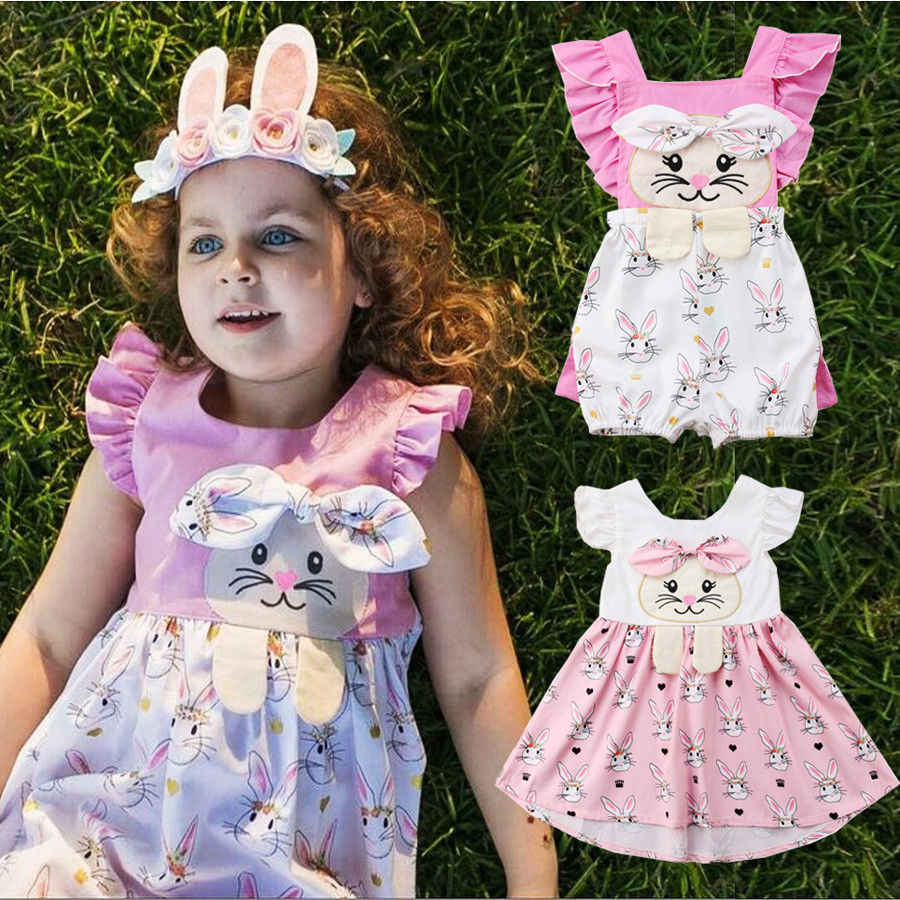 ac14e6d5e Pudcoco Girl Dress Uk Stock Easter Kids Baby Girls Bunny Romper Party Dress  Sundress Outfit Clothes
