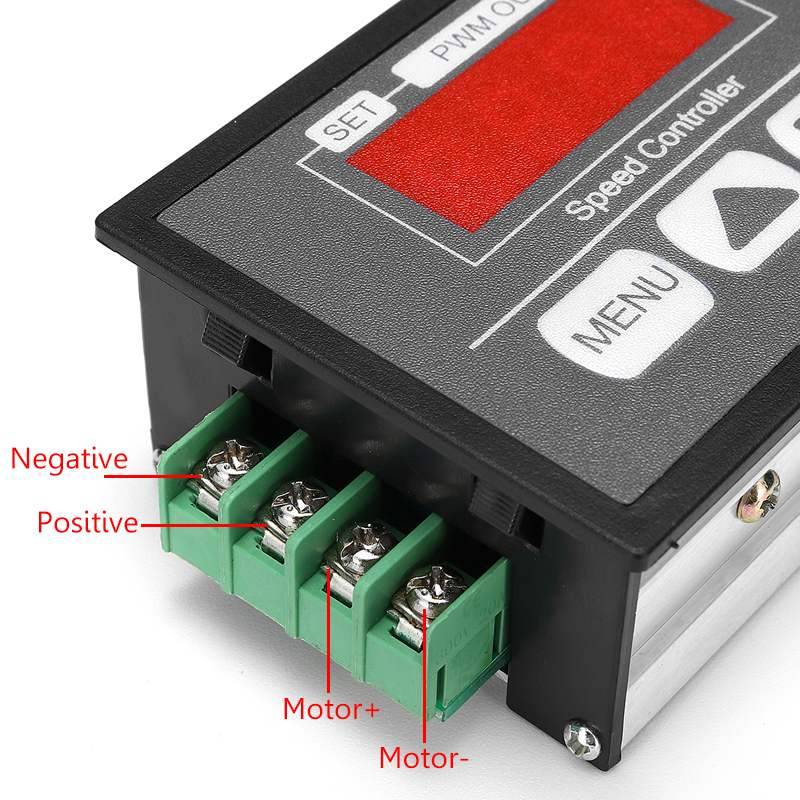 Adjustable 30A PWM 6-12V DC Motor Speed Controller Module DCLED Digital Display Speed Regulator Power Control Governor Switch