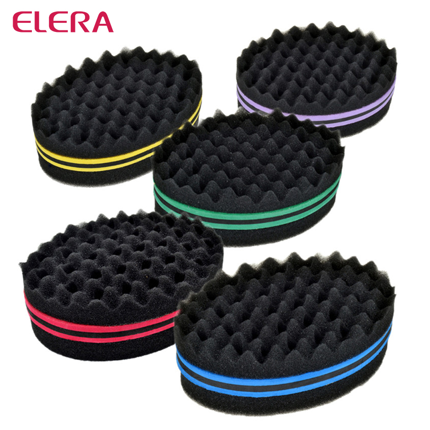 Oval Double Sides Magic Twist Hair Brush Sponge,Sponge Brush For Natural,afro Coil Wave Dread Sponge Brushes Free Ship