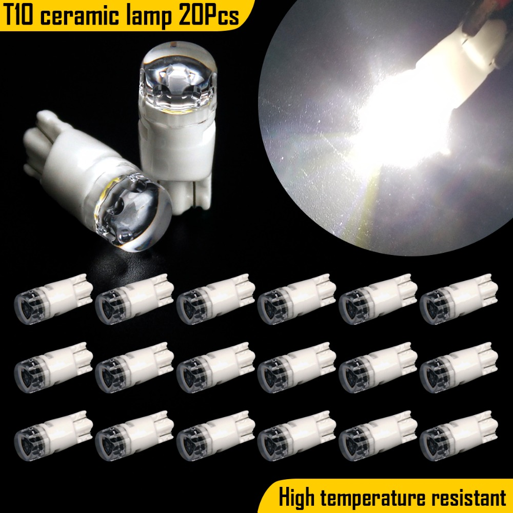 20pcs Super Bright 3030 T10 W5W LED Canbus Error Free 5630 168 147 Bulb Car Pathway Reading Dome Clearance Light 12V Car Styling in Signal Lamp from Automobiles Motorcycles