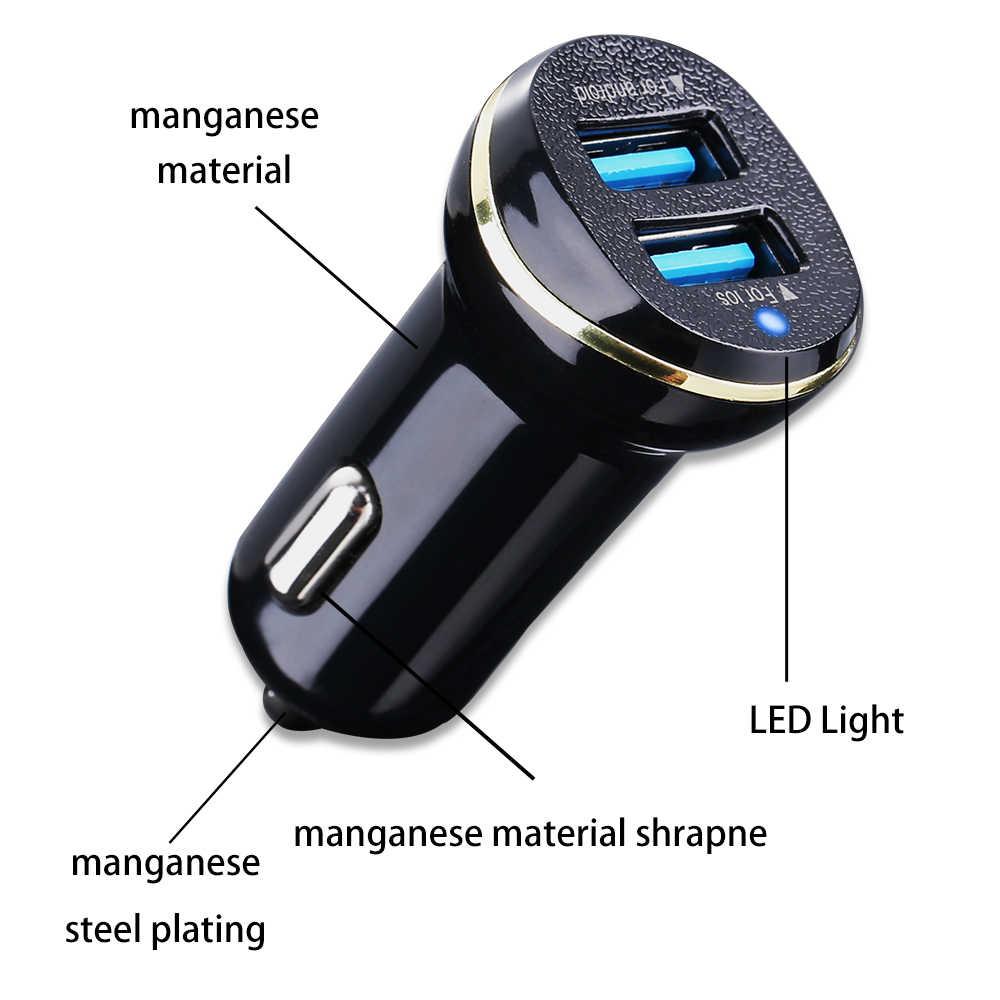 Caseier 3.1A Cepat Dual USB Charger Mobil untuk iPhone XR X XS Max USB Pengisian untuk Samsung Xiaomi Ponsel charger Mobil
