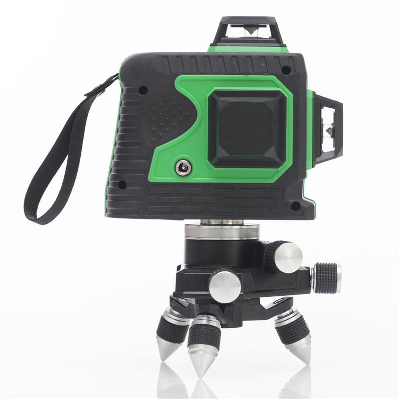 3D 12 Lines Green Laser Levels Receiver Self Leveling 360 Degree Horizontal And Vertical Cross Powerful