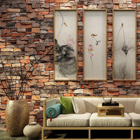 Modern 3D Brick Textured Wallpaper For Home Walls Decor Embossed 3D Wall Paper Rolls For Bedroom Living Room Background Decor
