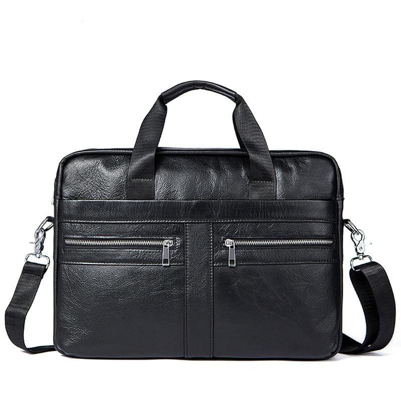 2019 New Men Leather Laptop Bag 15 inch Genuine Leather Men Bags Briefcases Handbag Tote Shoulder