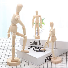 1*Model Decoration Wooden Dolls Joint Hand Home Accessories Miniature