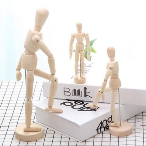 1*Model Decoration Wooden Dolls Joint Hand Home Accessories Miniature Kawaii Craft Creative Gift Home Decoration Accessories Pakistan