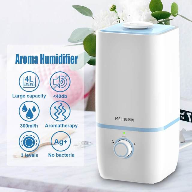 Meling 400ml Cool Mist Air Humidifier Purifier Electric Aroma Essential Oil Diffuser Ultrasonic Aromatherap for Office Home