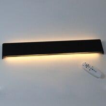 61 سنتيمتر/76 سنتيمتر وحدة إضاءة LED جداريّة مصباح الحديثة غرفة نوم الجدار ضوء غرفة المعيشة درج إضاءة للتزيين الألومنيوم عكس الضوء التحكم عن بعد