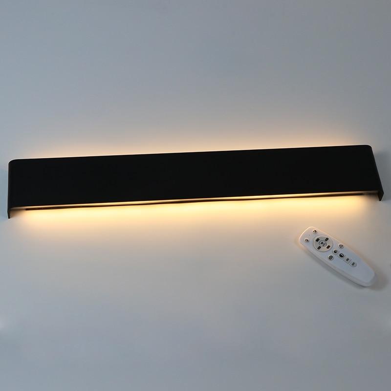61 cm/76 cm lampe de mur LED moderne chambre applique murale salon escalier éclairage décoration aluminium Dimmable télécommande