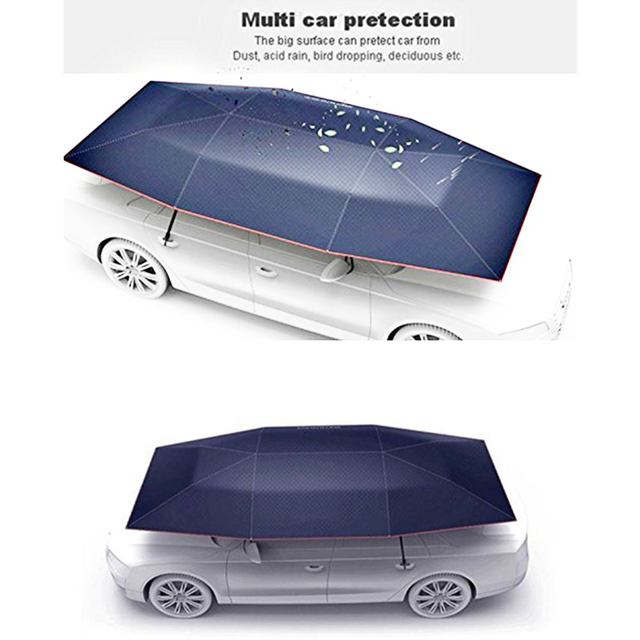 Portable Full Automatic Car Cover Umbrella Outdoor Car Tent Umbrella Roof Cover UV Protection Kits Sun Shade with Remote Control 2