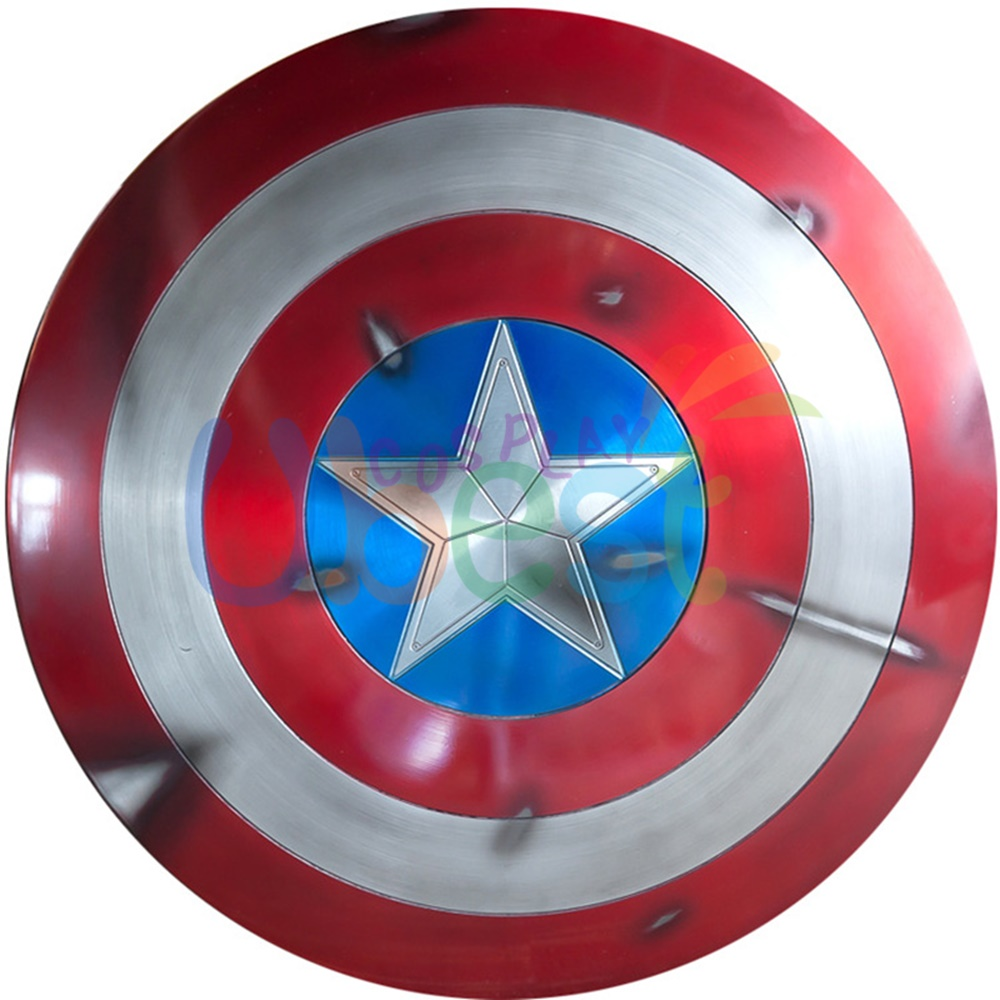 Avengers Captain America Metal Shield Iron Replica Bar Decoration Cosplay Props