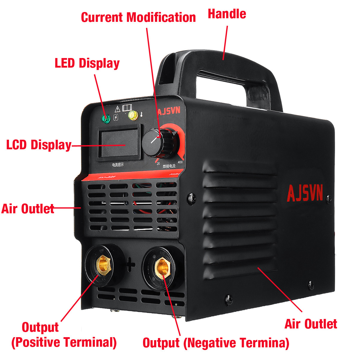 Новый 220 В Регулируемый 20A-225A 4200 Вт ручной IGBT инвертор дуговой сварщик-сварочный аппарат цифровой дисплей мини портативный сварочный инстру...