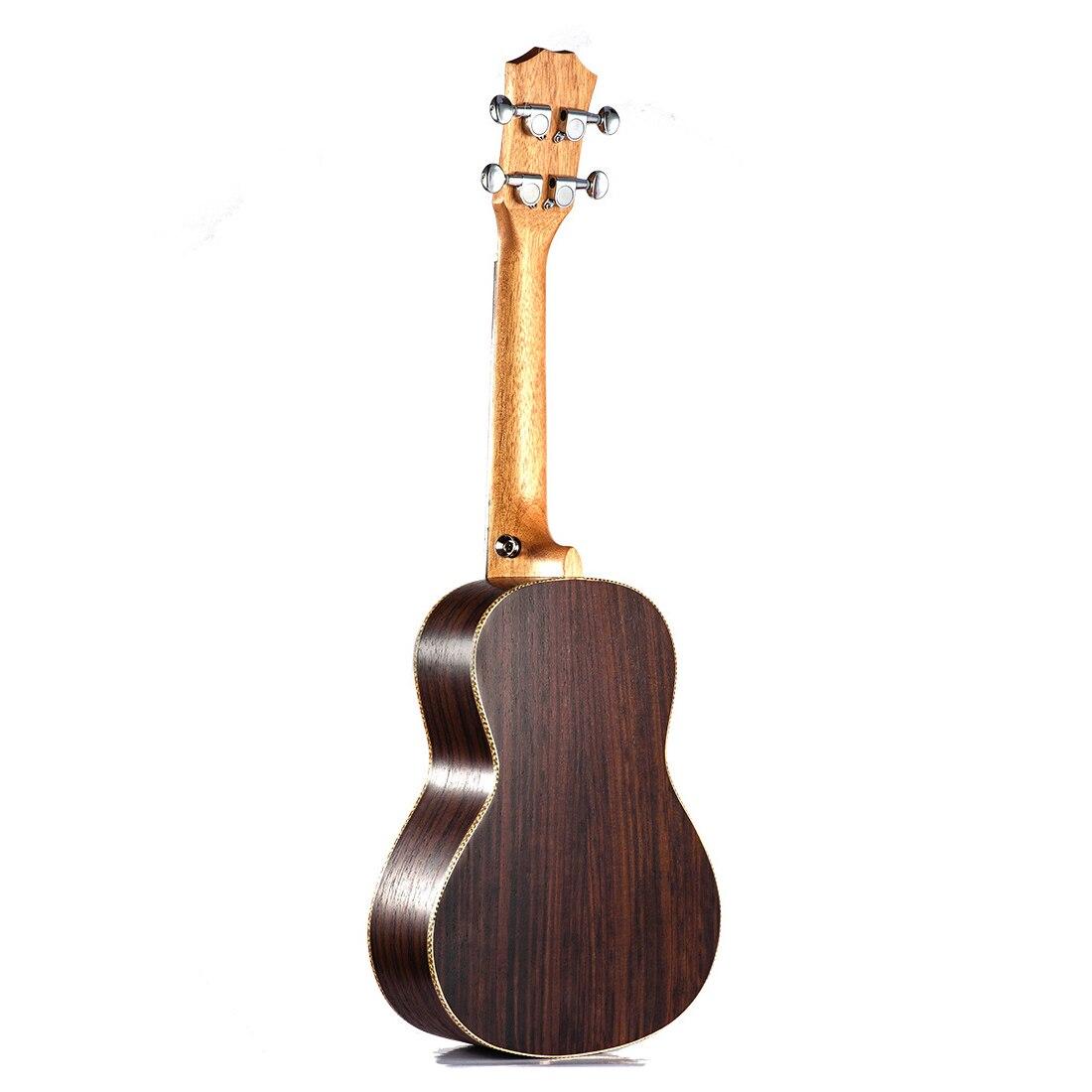 Ukulélé de Concert Soprano 23 pouces en bois de rose uku Ukelele avec 4 cordes mini Hawaii guitare Instruments de musique - 2