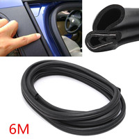 6 M Car Edge Protector U shaped Rubber Fillers Auto Door Window Noise Insulation Anti Dust Soundproof Sealing Strips Trim