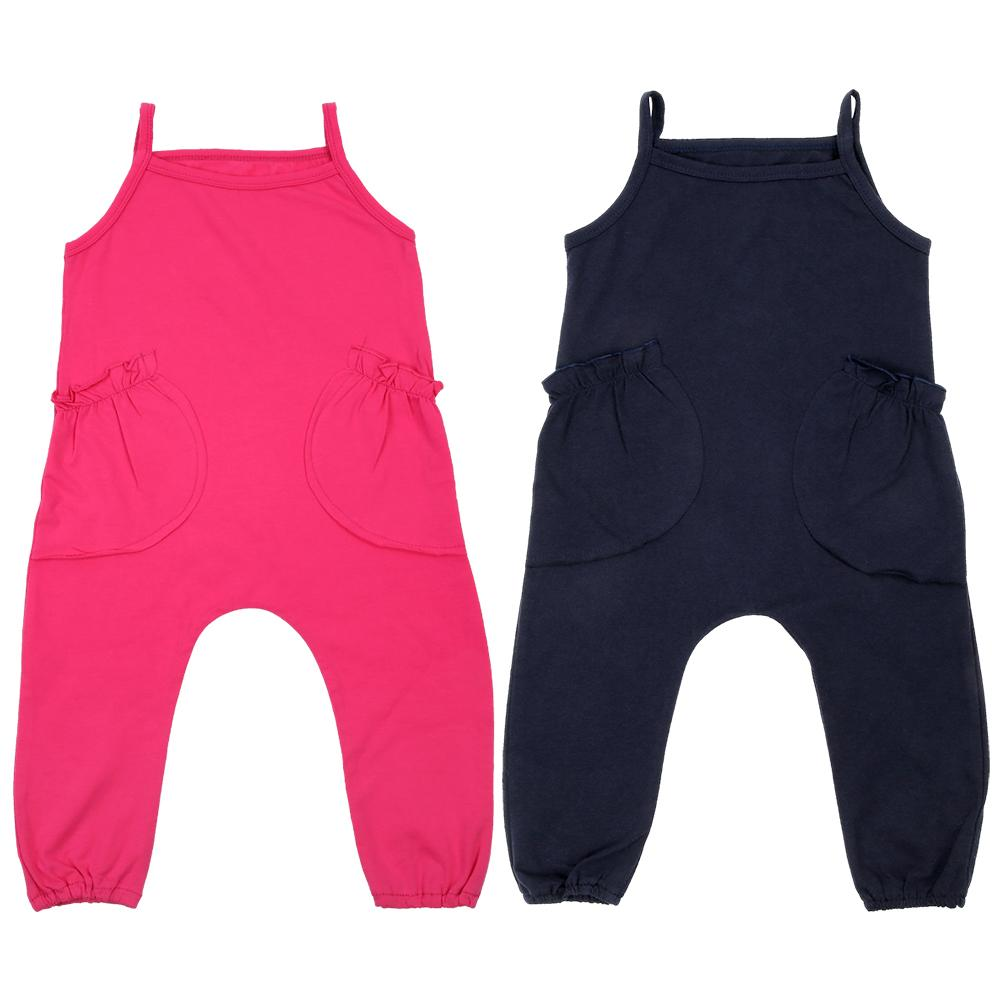 100% QualitäT Kinder Overalls Kleidung Set Einfarbig Jungen Mädchen Baby Sleeveless Schlinge Overall Outfits Kinder Sets Nachfrage üBer Dem Angebot