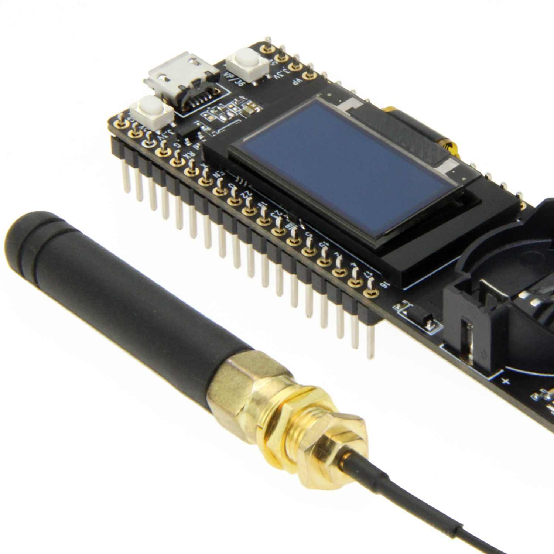 Ttgo t-fox 20Db Lora32 V1.1 868Mhz Esp32 Lora Oled 0.96 pouces Bluetooth Wifi Module sans fil Esp-32 (868 Mhz)