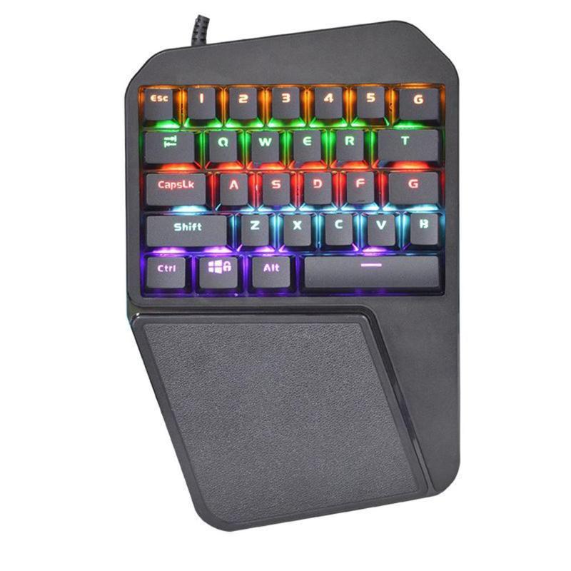 sunrose t660 usb wired mechanical keyboard for pubg single hand blue switch backlight keyboard. Black Bedroom Furniture Sets. Home Design Ideas