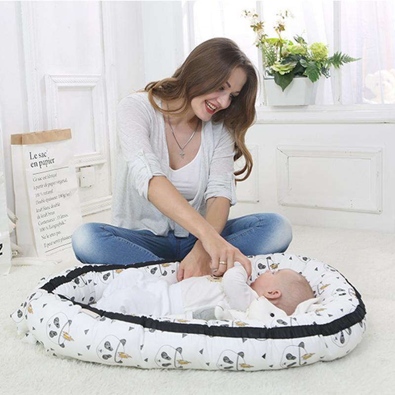 Baby Bassinet For Bed Lounger Breathable Hypoallergenic Bed Cotton Portable Crib Bedroom Travel Children's Bedding Mattress
